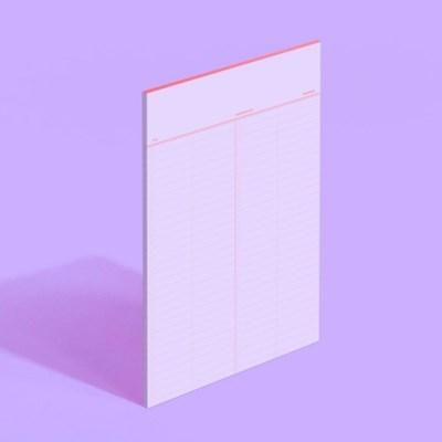 노트페이퍼 단어장 - 페어리퍼플