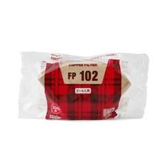 칼리타 커피필터 2-4인용 옐로우 100매 (FP102) 5개 세_(992931)