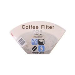 포더카페 커피필터 1×1(1-2인용) 100매 10개 세트_(992497)
