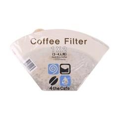 포더카페 커피필터 1×2(3-4인용) 100매 10개 세트_(992495)