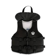 포세이돈 수영보조용 조끼 올블랙 K 키즈 15kg-25kg_(1398420)