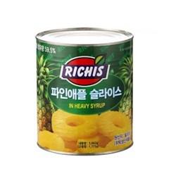 동서 리치스 파인애플 슬라이스 3kg 6개(1박스)_(992711)