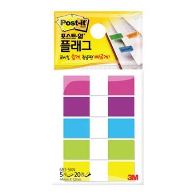 [3M] 포스트잇 플래그 683-5KN 20매*5색(12*43.6mm)_(12651476)
