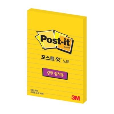 [3M] 포스트잇 660-SN 라인 45매(102*152mm)_(12651392)