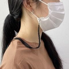 여성 여름 레이스 마스크스트랩 마스크목걸이  2color