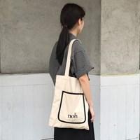 Color bag (beige&black)