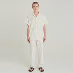SAFARI LINEN SHIRT+PANTS SET UP_IVORY