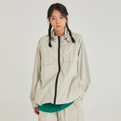 W LIGHT WEIGHT ZIP-UP WINDBREAKER_SAND