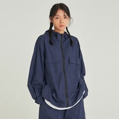 W LIGHT WEIGHT ZIP-UP WINDBREAKER_NAVY