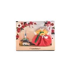 120-SP-0002 / 한복 향낭 키링 엽서(무궁화)
