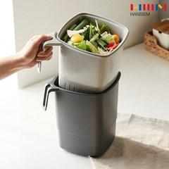 한샘 밀폐가 잘되는 음식물 쓰레기통 4L