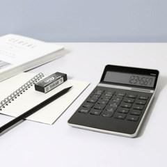 은행업무 사무용 보기편한 LCD 태양열 계산기 EXACT_(1229382)