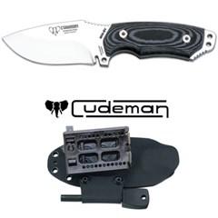 쿠드만 미니 보이나 캠핑 나이프 블랙+파이어스틸 CUD115-BK