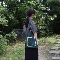 Color bag (deepgreen&white)