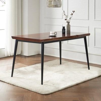 브리엔 원목 철제 식탁 테이블 1400
