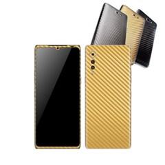 LG 벨벳 휴대폰 카본스킨 보호필름(리치골드) LM-G900N
