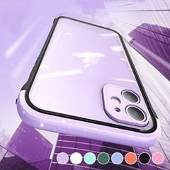 아이폰XS맥스 컬러 포인트 클리어 하드 케이스 P520_(3000296)