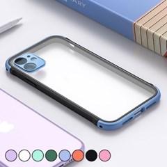아이폰X 컬러 포인트 클리어 하드 케이스 P520_(3000294)
