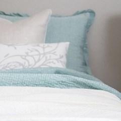 Artificial Silk Frill Summer Bedding_mint