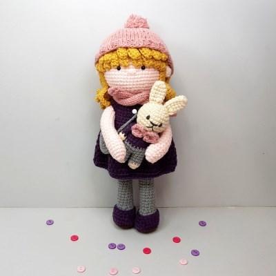 [손뜨개 DIY]손뜨개인형-에이미랑 꼬마토끼