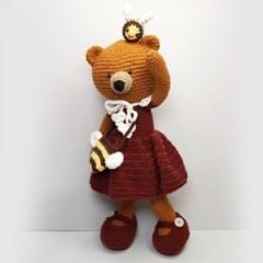 [손뜨개 DIY]손뜨개인형-곰순이랑 꿀벌