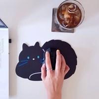 [마우스패드] 검정 고양이 (웅크린 시간)