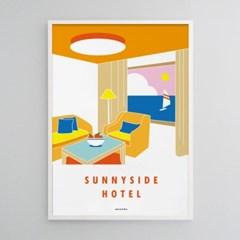 써니사이드호텔2 M 유니크 인테리어 디자인 포스터 휴가