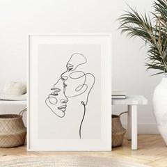 커플 드로잉 그림 액자 포스터