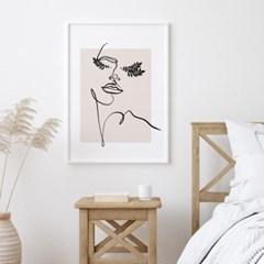 우먼리프 드로잉 그림 액자 포스터