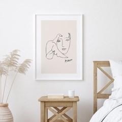 피카소 드로잉 액자 그림 포스터 도브우먼