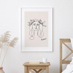 피카소 드로잉 액자 그림 포스터 우먼