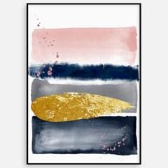 패브릭 추상화 거실 인테리어 그림 액자 핑크네이비