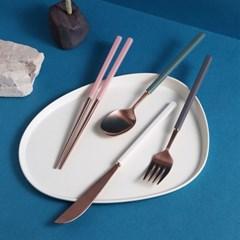 [J TABLE]모모망고 로즈골드 커트러리 세트_(1960898)