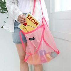 코니테일 데일리 메쉬백 - 핑크 (비치백 가방 숄더백)