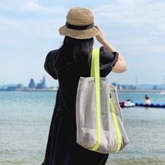 코니테일 비치 메쉬백 - 그레이 (비치백 가방 숄더백)