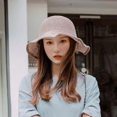 여성 모자 버킷햇 백리본