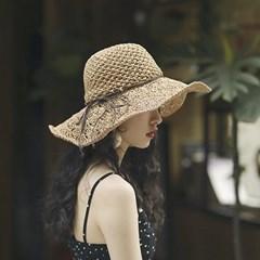 여성 모자 버킷햇 리본 와이어