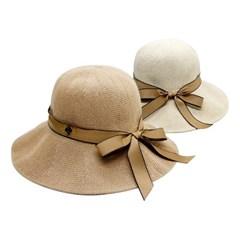 여성 모자 버킷햇 M포인트 리본