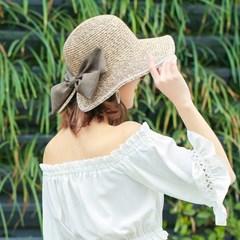 여성 모자 버킷햇 빅리본말이