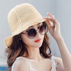 여성 모자 버킷햇 꽈베기 포인트