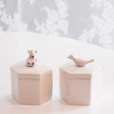 육각 보석함(곰돌이/새)