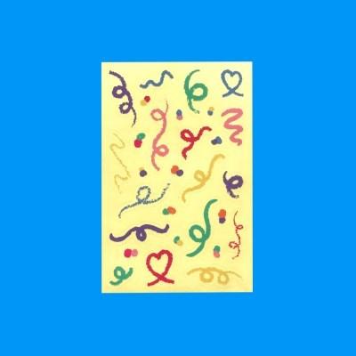 Crayon Confetti Sticker