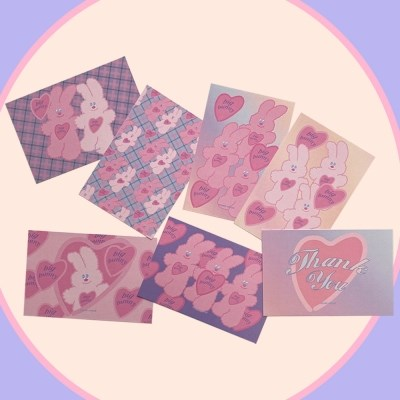 [뮤즈무드] postcard ver.18 big bunny friends