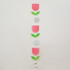 핑크 튤립정원 투명 모빌 선캐쳐