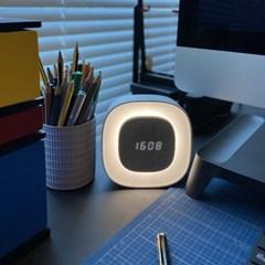 간소 무선 LED 인테리어 무소음 무드등 알람 탁상 시계