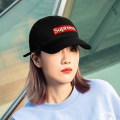 Superme 슈프림 로고 기본 볼캡 블랙 화이트