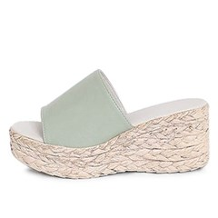 kami et muse Espadrille pattern platform wedge slippers_KM20s300