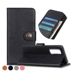 갤럭시노트20 골드 버튼 카드수납 가죽 케이스 P536_(3009826)