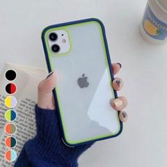 아이폰7 투톤 컬러 클리어 커버 하드 케이스 P539_(3009824)