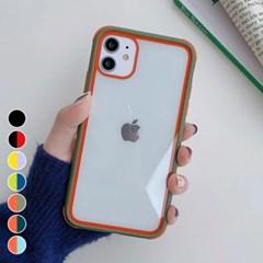 아이폰6 투톤 컬러 클리어 커버 하드 케이스 P539_(3009821)